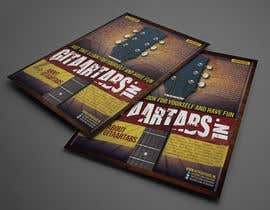 #9 untuk Flyer Design for Gitaartabs.nl an online guitar community with pro vido lesson and songs oleh thuanbui
