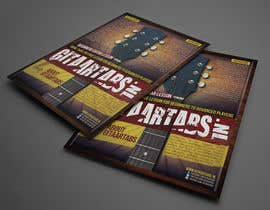 #14 untuk Flyer Design for Gitaartabs.nl an online guitar community with pro vido lesson and songs oleh thuanbui