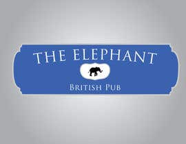 nº 196 pour Logo Design for The Elephant British Pub par Mdav123