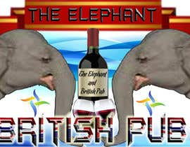 nº 200 pour Logo Design for The Elephant British Pub par JAZER2004ME