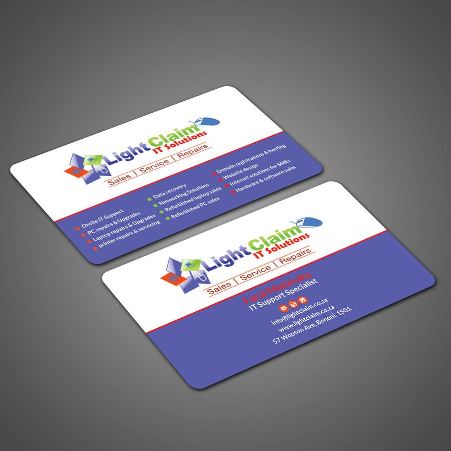 Entry #2 by patitbiswas for Design some Business Cards Lightclaim ...