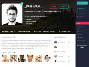 #15 for Redesigning UI of the user profile by shabcreation