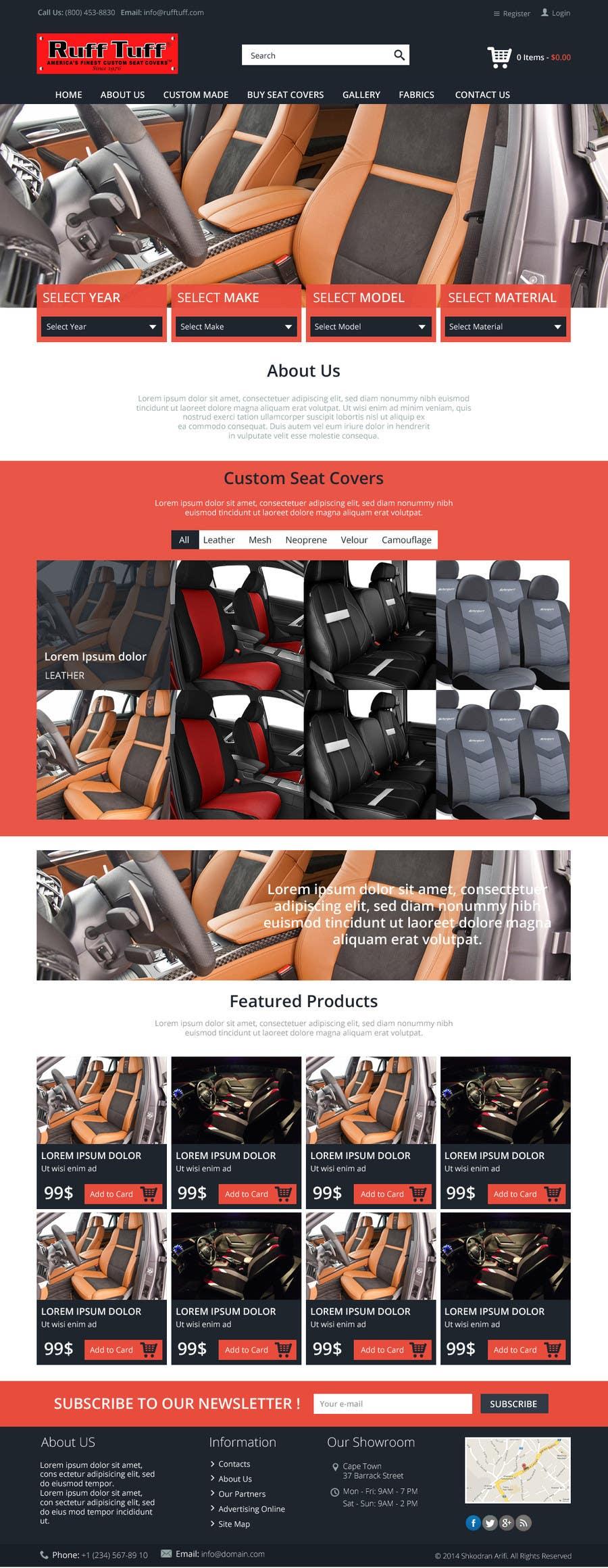 Penyertaan Peraduan #                                        17                                      untuk                                         Design a Website Mockup for an auto seat cover manufacturer