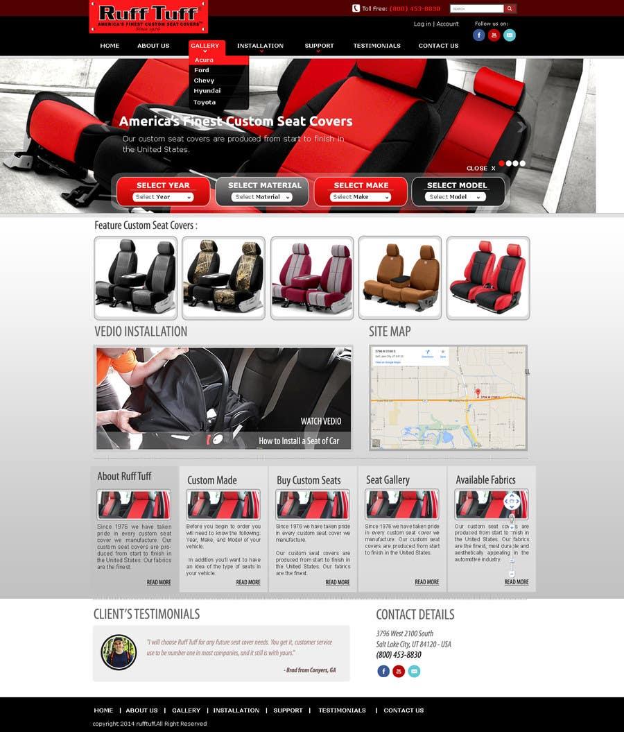 Penyertaan Peraduan #                                        24                                      untuk                                         Design a Website Mockup for an auto seat cover manufacturer