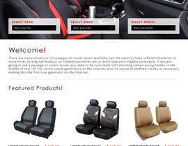 #2 untuk Design a Website Mockup for an auto seat cover manufacturer oleh tarana1