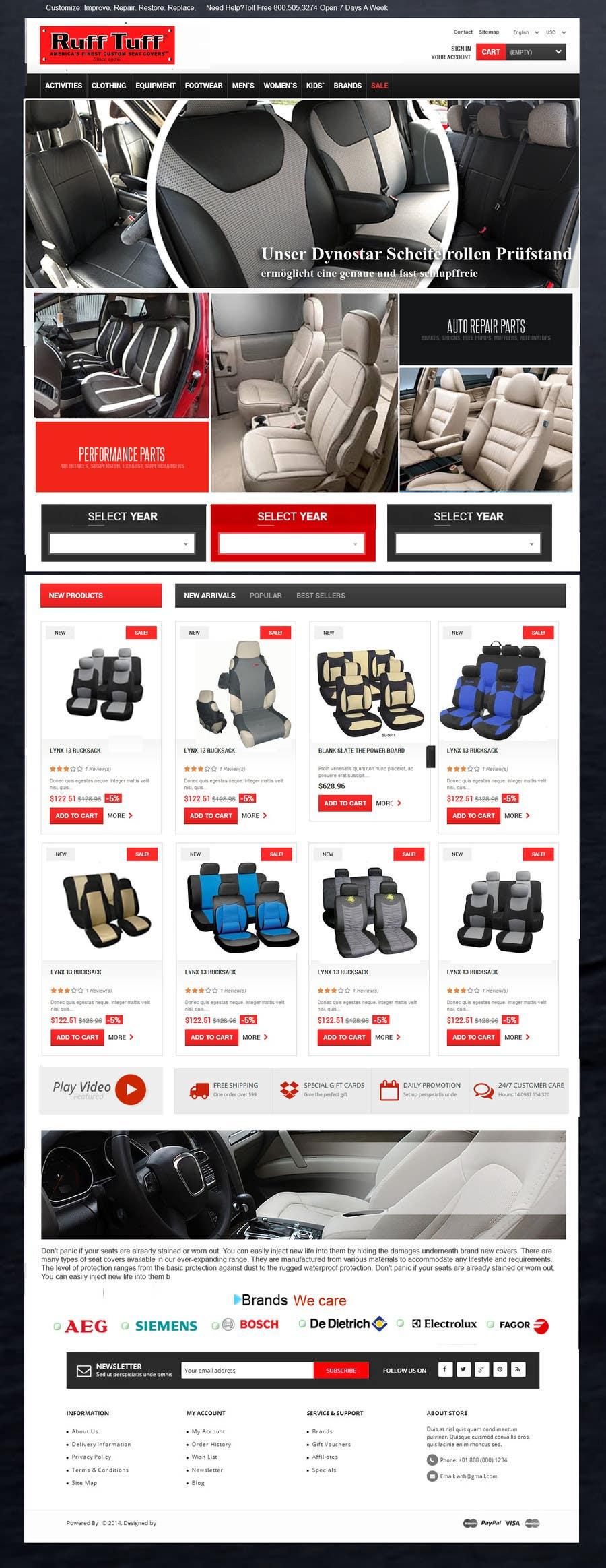 Penyertaan Peraduan #                                        22                                      untuk                                         Design a Website Mockup for an auto seat cover manufacturer