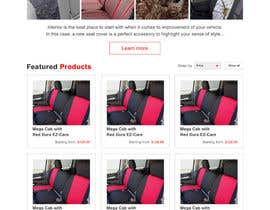 #4 untuk Design a Website Mockup for an auto seat cover manufacturer oleh hshahijanian