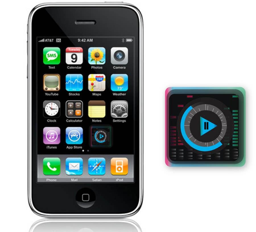 Kilpailutyö #                                        11                                      kilpailussa                                         iPhone/iPad app icon design for music player