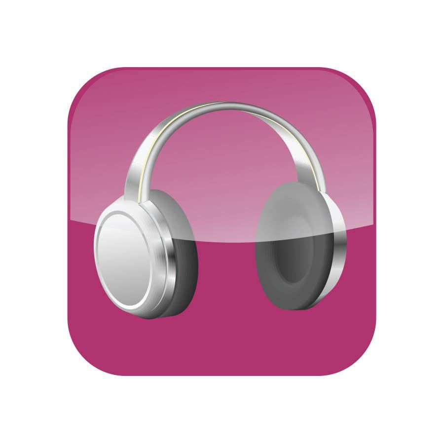 Kilpailutyö #                                        24                                      kilpailussa                                         iPhone/iPad app icon design for music player
