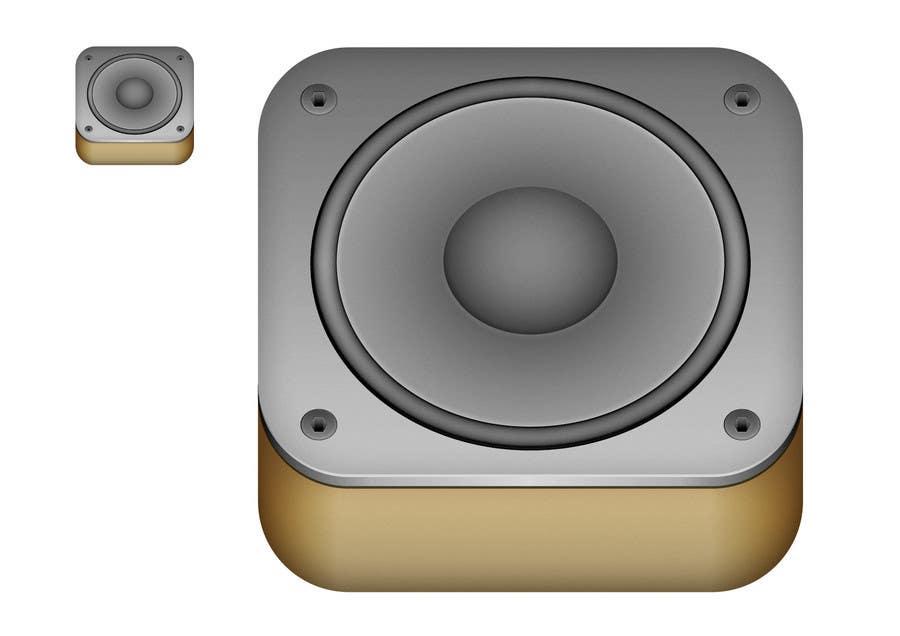 Kilpailutyö #                                        26                                      kilpailussa                                         iPhone/iPad app icon design for music player