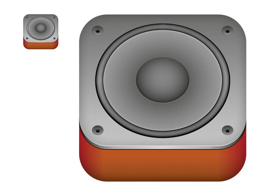 #38 for iPhone/iPad app icon design for music player by santiagodurieux