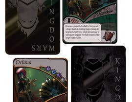 #22 for Trading card game template design with two different backgorunds and the back of the card designed by drissiafef