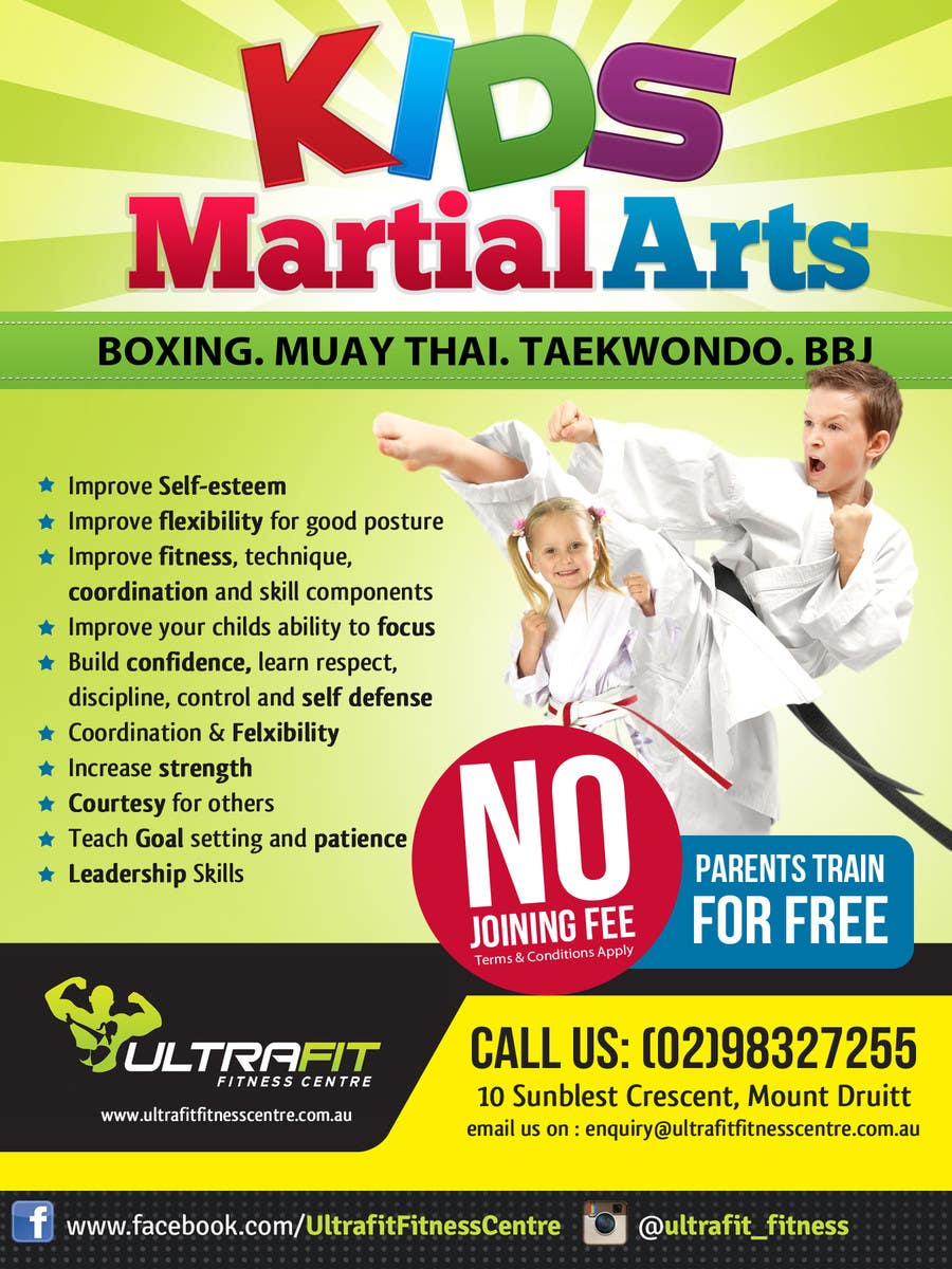 Design An Advertisement For Kids Martial Arts Classes