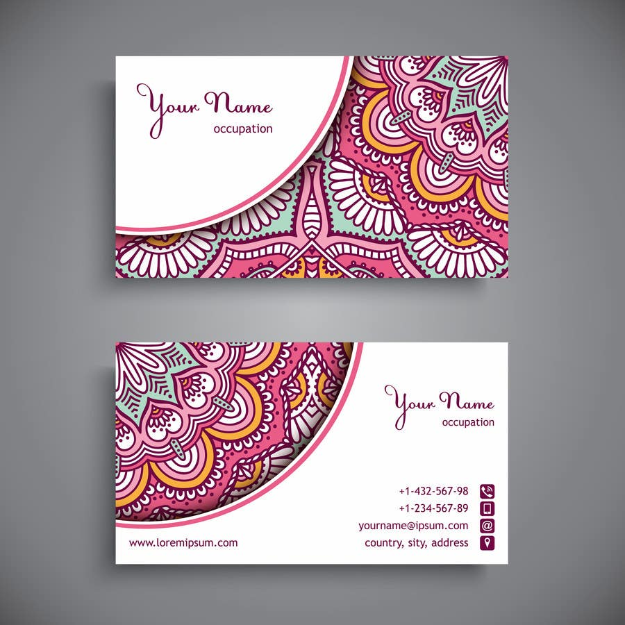 business card template designs freelancer