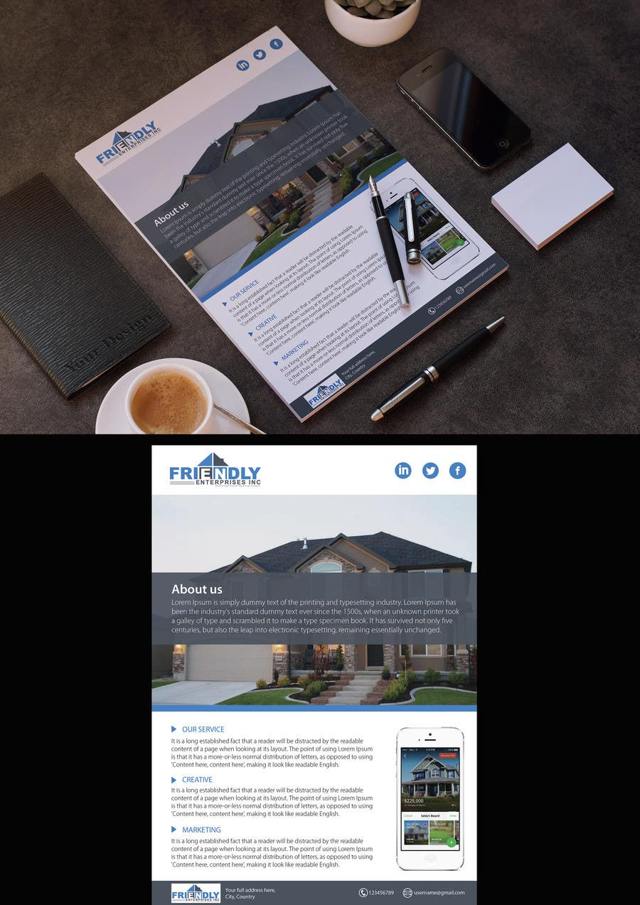entry 65 by bartolomeo1 for design a 1 pager pricing flyer