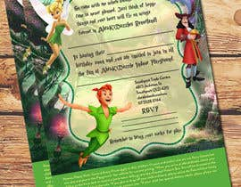 Design x1 a5 birthday invitation peter pan inspired freelancer featured contest filmwisefo