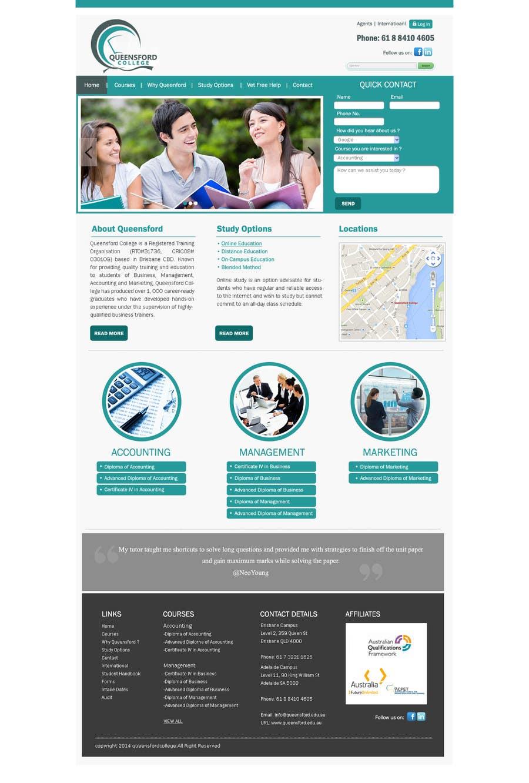 "Penyertaan Peraduan #                                        27                                      untuk                                         Design a Website Mockup for ""Queensford College"""