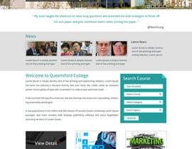 "#10 untuk Design a Website Mockup for ""Queensford College"" oleh arunkoshti"