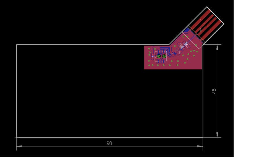 Entry #3 by alexanderkf for Simple PCB Design | Freelancer