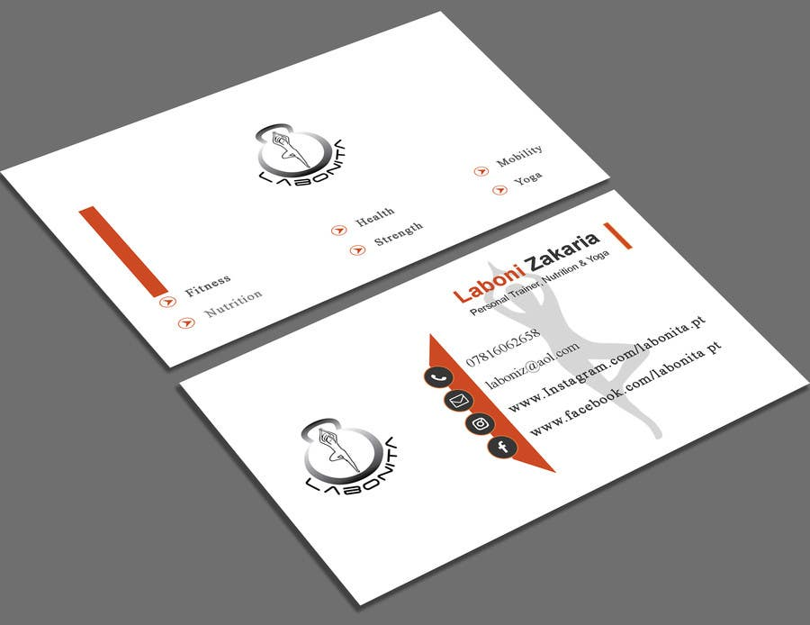 Entry 92 by shajuahmed45 for design a business card for a personal contest entry 92 for design a business card for a personal trainer and yoga teacher reheart Images