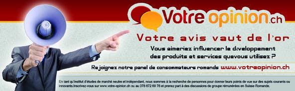 Konkurrenceindlæg #                                        41                                      for                                         Advertisement Design for www.votre-opinion.ch