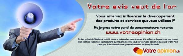 Konkurrenceindlæg #                                        40                                      for                                         Advertisement Design for www.votre-opinion.ch