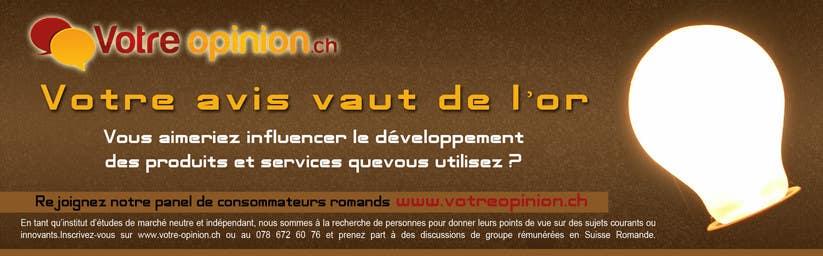 Inscrição nº                                         64                                      do Concurso para                                         Advertisement Design for www.votre-opinion.ch