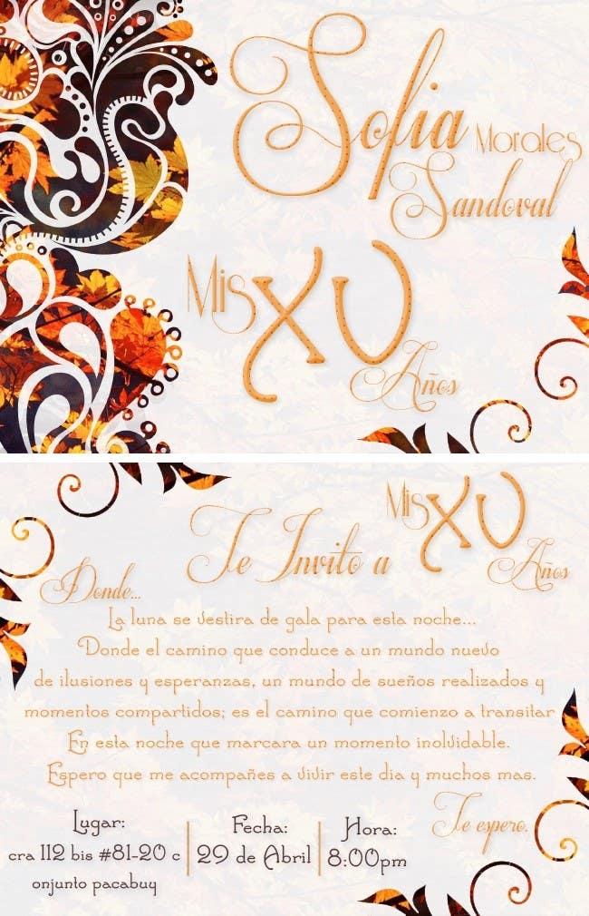 Entry 48 By Sandyyairis For Tarjeta Invitación Fiesta 15