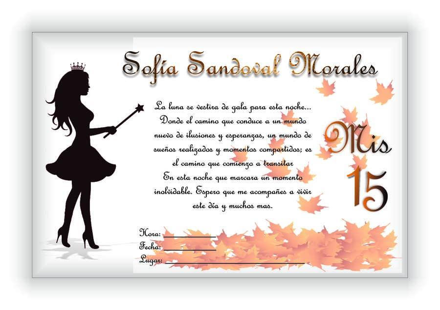 Entry 8 By Neny22 For Tarjeta Invitación Fiesta 15 Años