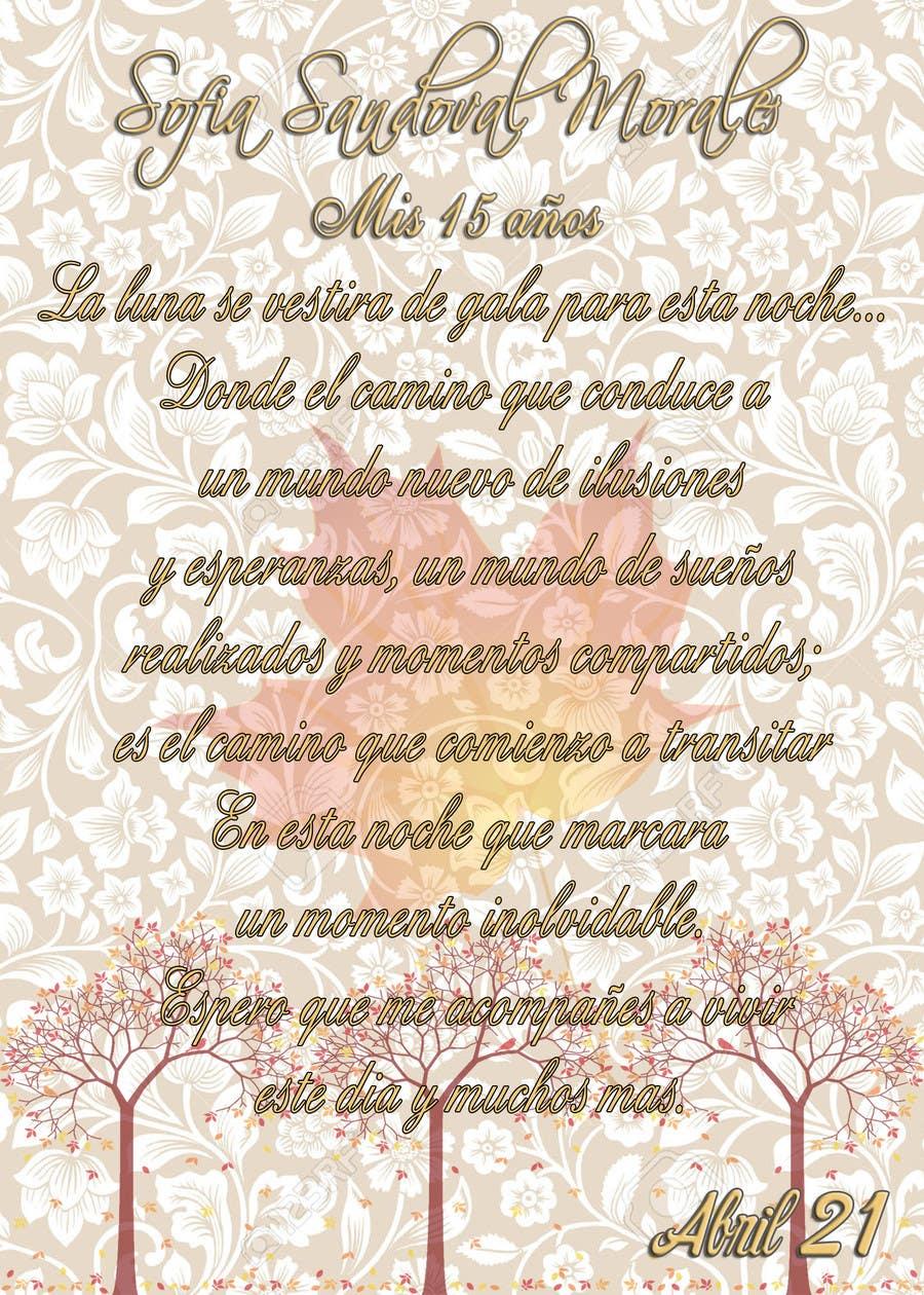 Entry 4 By Ricardobg19gonza For Tarjeta Invitación Fiesta