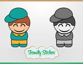 #12 cho Logo & Sticker design x 50  for Family Sticker Concept for new market bởi solidussnake