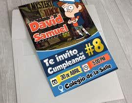 for tarjeta de invitacin y pendn cumpleaos david samuel nio tema del cumpleaos