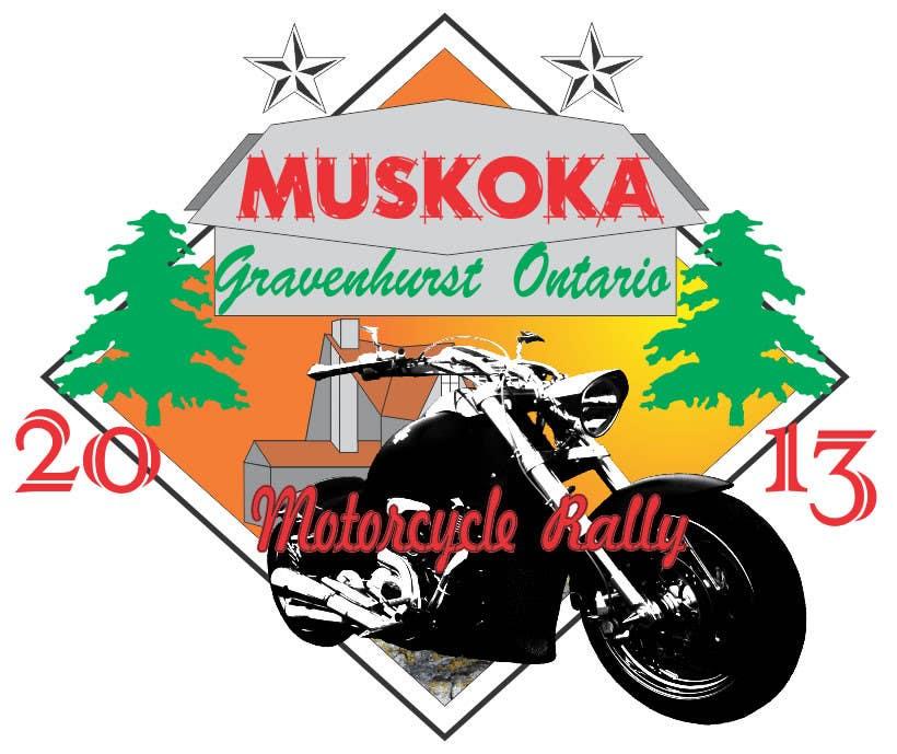 #73 for Logo Design for Muskoka Motorcycle Rally by batholomio