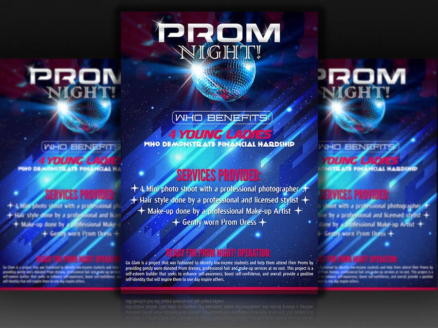 entry 31 by dreamworld092016 for design a flyer ready for prom