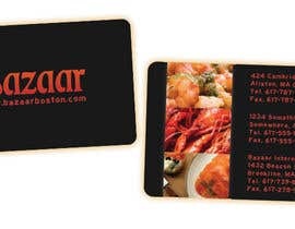 #43 para Business Card Design for Bazaar por colourpie