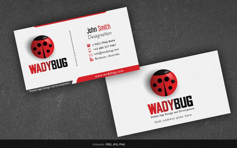Entry #23 by arnee90 for Design business card for mobile App ...