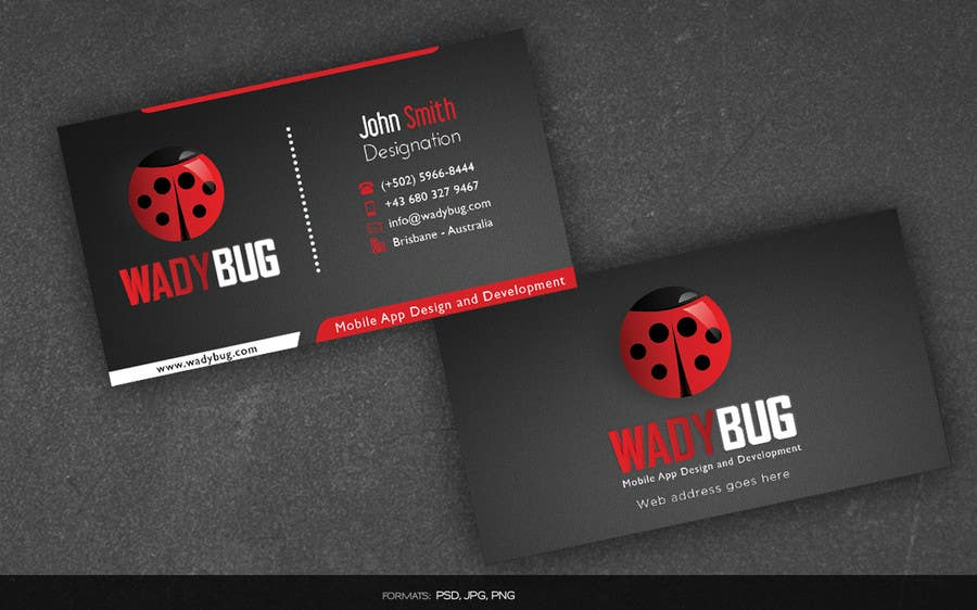 Entry #51 by arnee90 for Design business card for mobile App ...