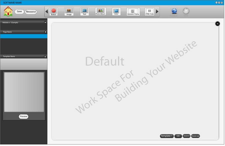 Inscrição nº                                         24                                      do Concurso para                                         User Interface design for Website Builder Software