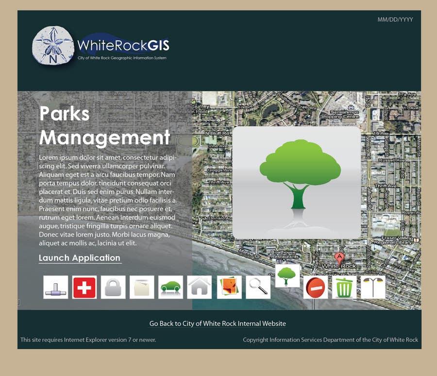 Inscrição nº                                         9                                      do Concurso para                                         Internal GIS Website Homepage Design for City of White Rock