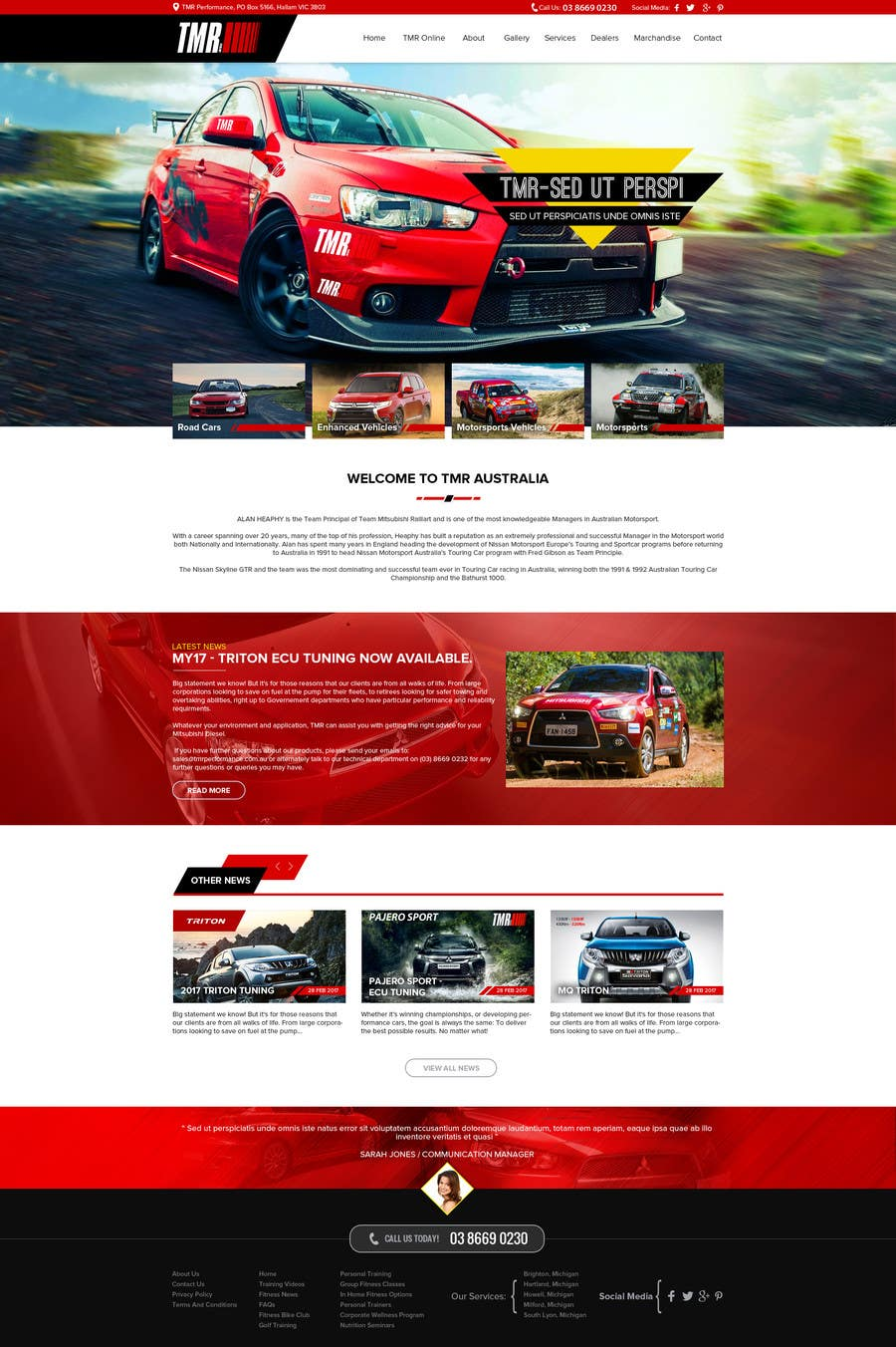 #8 for Motorsport psd for Wordpress by RohitDey1988