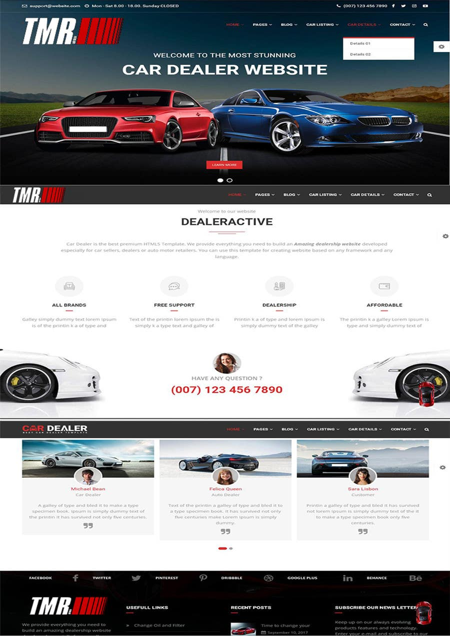 #14 for Motorsport psd for Wordpress by djjreluu