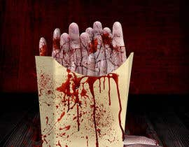 "#32 para Large 3' x 4' poster for a zombie fast food restaurant of a box of ""severed fingers"" de syedanooshxaidi9"