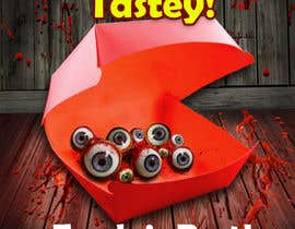 #9 para Large 3' x 4' poster for a zombie restaurant - a little box of eyeballs de calelleriz14