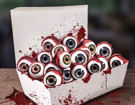 #25 para Large 3' x 4' poster for a zombie restaurant - a little box of eyeballs de ridhokelana