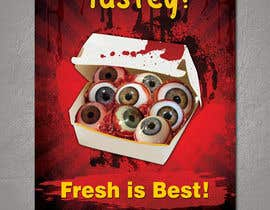 #11 para Large 3' x 4' poster for a zombie restaurant - a little box of eyeballs de PurppleDesigns