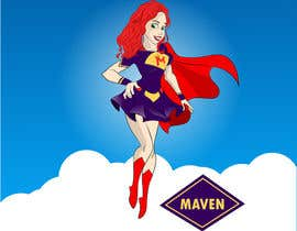 #76 for Design a cartoon super hero for new company by anacubaque09