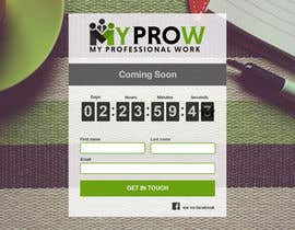 #44 for Build a coming soon page for my Website and design the related back ground by freeslicer