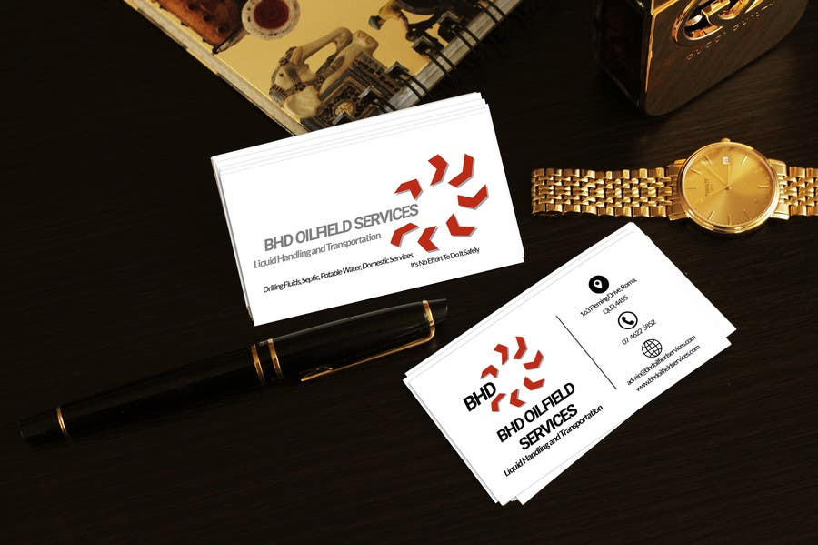 Entry #29 by MoutazTAZ for BHD Oilfield Services Business Cards ...
