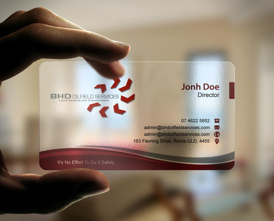 Entry #63 by mdreyad for BHD Oilfield Services Business Cards ...