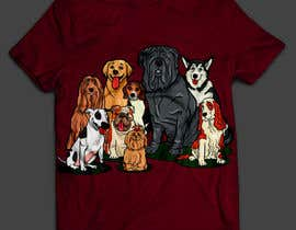 #66 for Dogs TShirt by anieshiaka